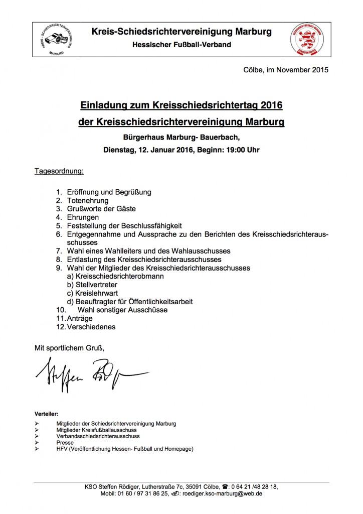 Kreisschiedsrichtertag Marburg 2016