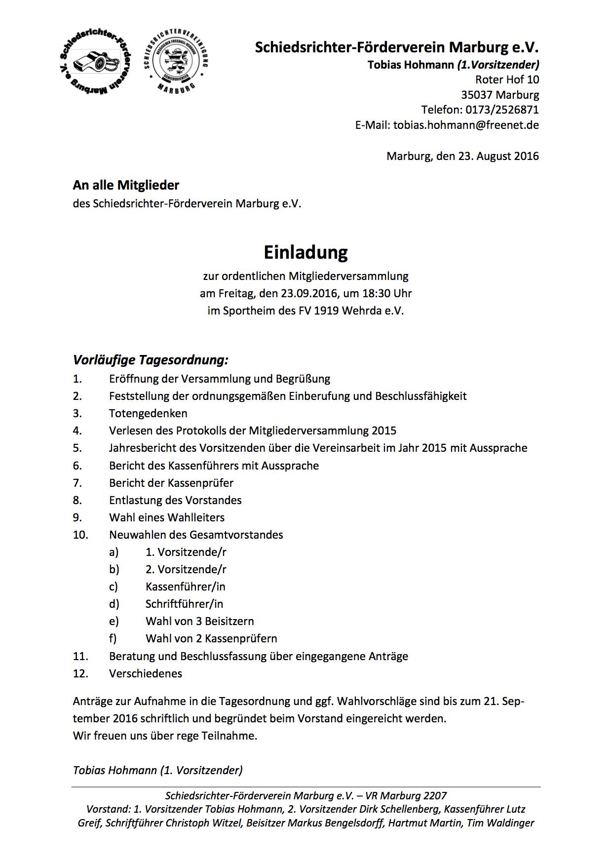 Einladung_JHV Schiedsrichter-Förderverein