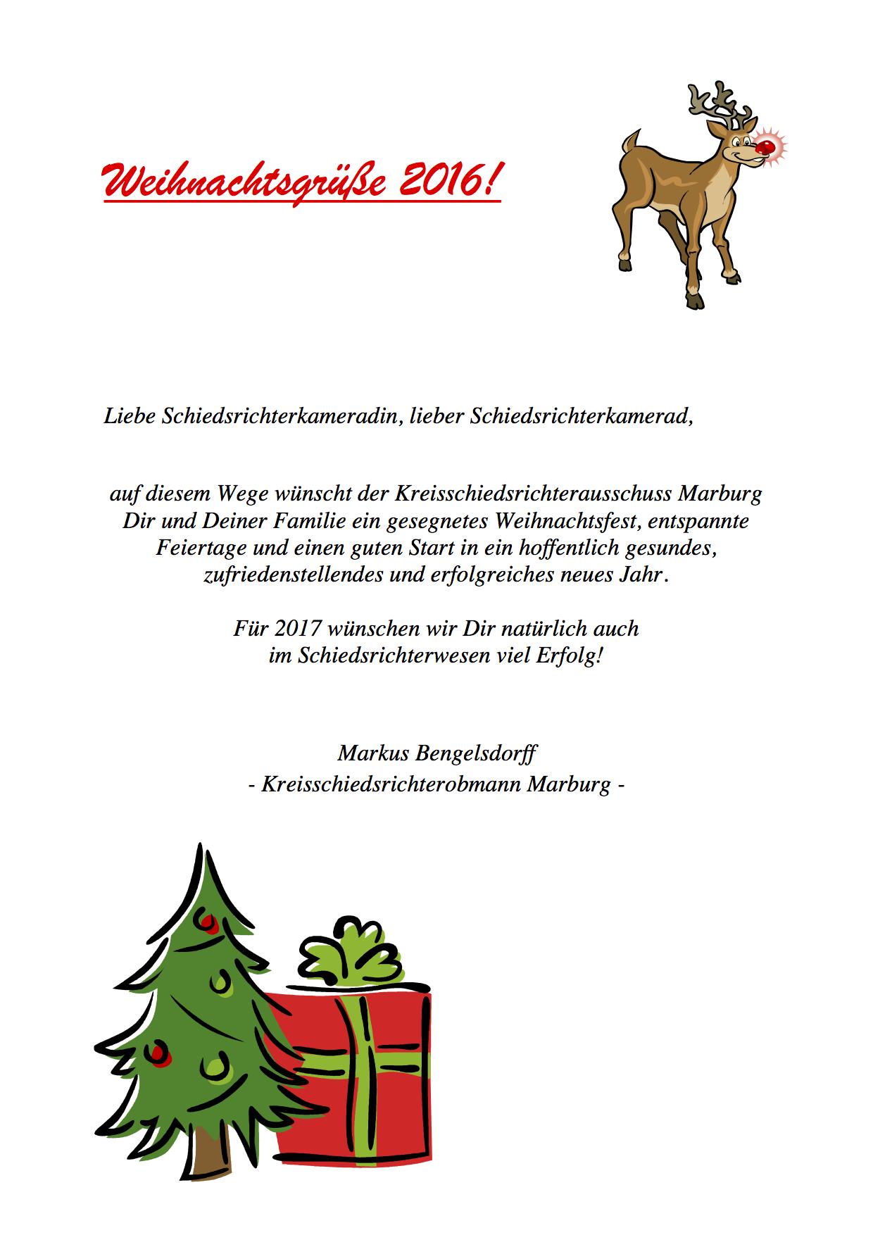 Weihnachtsgrüße Jpg.Weihnachtsgrüße 2016 Schiedsrichtervereinigung Marburg